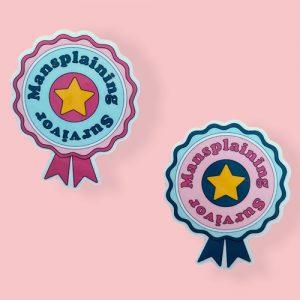 Mansplaining sticker