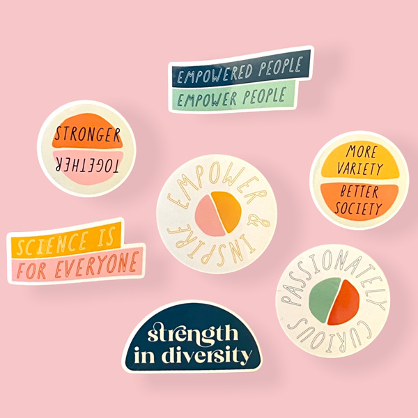 Diverse and empowered little sticker pack