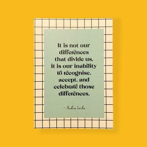it is not our differences that divide us